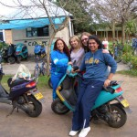 Riding Mopeds in Uruguay