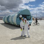 By the Playapillar at Burning Man